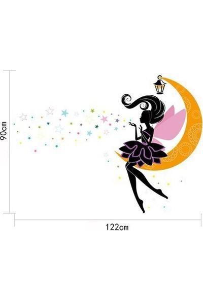 Dez Peri Kızı Yıldızlı Duvar Dekoru Sticker