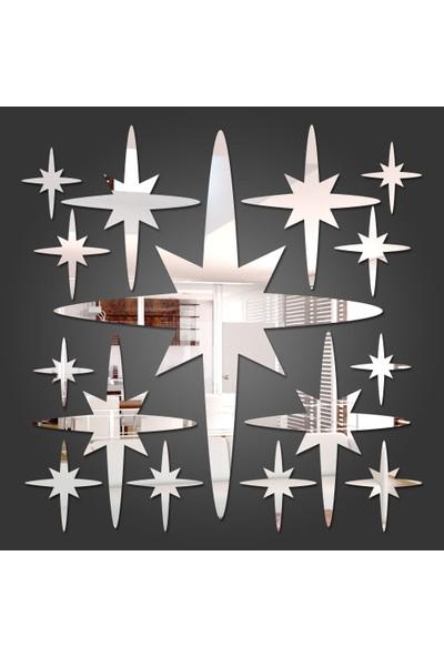 Dez Dekoratif Ayna 6 Noktalı Yıldız Model