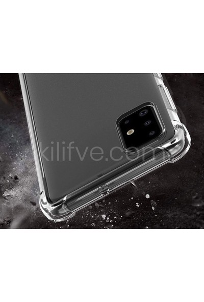 Kilifve Samsung Galaxy A51 Kılıf Ultra İnce Şeffaf Airbag Anti Şok Silikon - Şeffaf