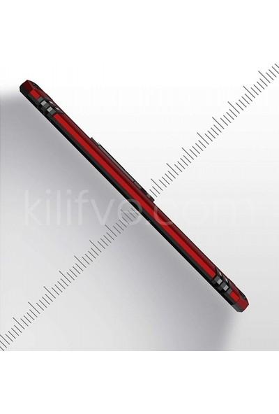 Kilifve Samsung Galaxy A51 Kılıf Zırhlı Standlı Mıknatıslı Silikon Vega Kapak - Rose Gold