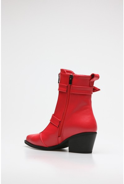 Rovigo Plus Kırmızı Cilt Kadın Bot