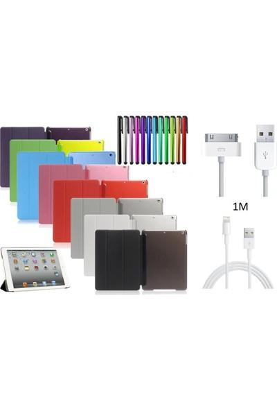 """ElitX Apple iPad 5. Nesil (2017) 9.7"""" Smart Kılıf + Kalem + Şarj Kablosu (A1822/A1823) - Mor"""