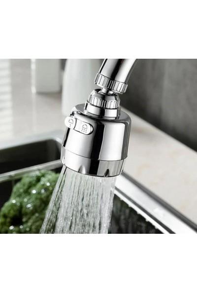 Kustar Krom 3 Fonksiyonlu Mutfak Lavabo Başlığı 360 Derece Döner