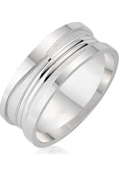 Takı Dükkanı Sade Model Gümüş Alyans Söz Nişan Yüzüğü DGA08-1