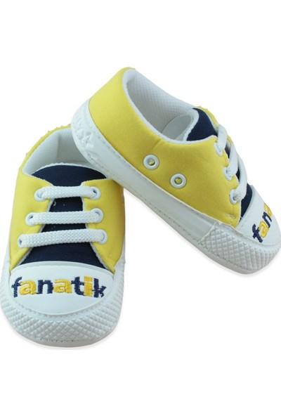 Pamily Sarı Lacivert Convers Tarz Bebek Ayakkabı K858