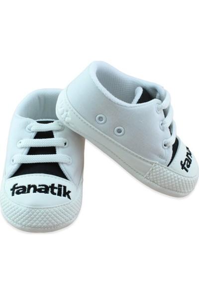 Pamily Siyah Beyaz Convers Tarz Bebek Ayakkabı K857