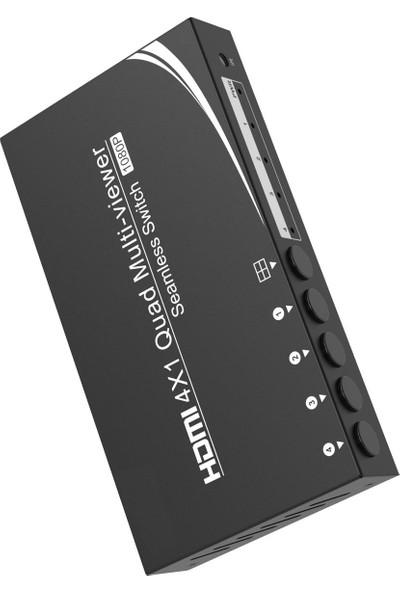 Gplus FHDVS04 4 Port Quad Multi View Seamless Profesyonel Switch