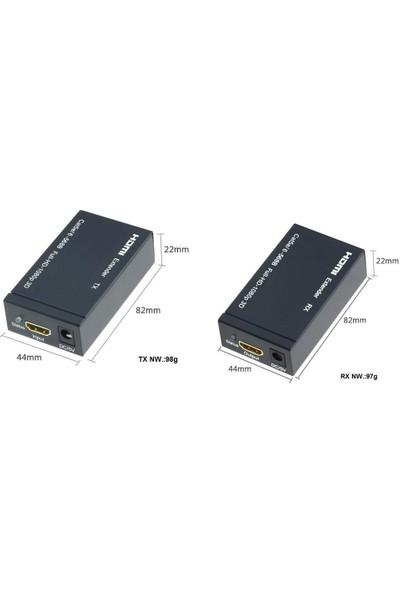 Gplus FHD30EX CAT5E Cat 6 Ethernet Lan RJ45 60 Hz HDMI Uzatıcı Extender 95 mt