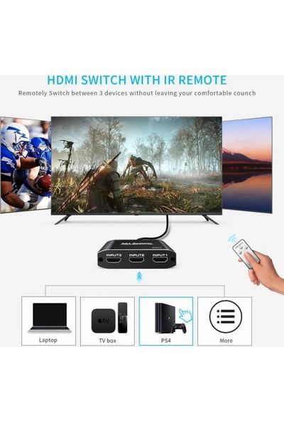 Gplus 4K321M 18GBPS 3x1 HDMI 2.0 4K Ultra Hd Hdr Hdcp2.2 Arc Extractor Ses Ayrıştırıcılı 3 Giriş 1 Çıkış Combo Switch Splitter