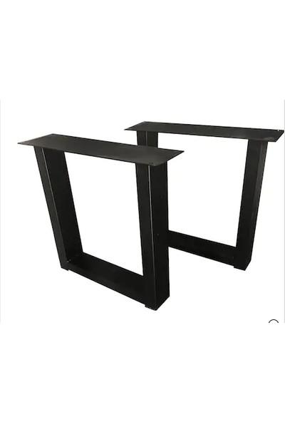 Abronya Masa Ayağı Kütük Bahçe Mobilya Ayakları Metal Ağaç Masa Ayak
