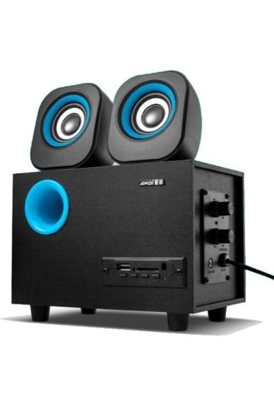 Bluetoothlu Hoparlör A580 Tf Sd Kart 2.1 Speaker Ekstra Bass Ses Sistemi 2+1