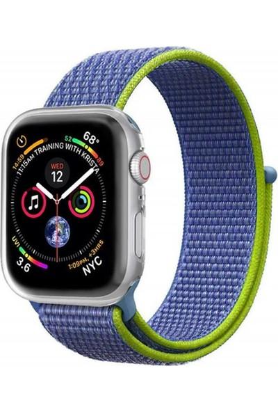 Zaks Apple Watch Serisi 1/2/3/4/5 Hasır Kordon 38/40 mm - Mavi