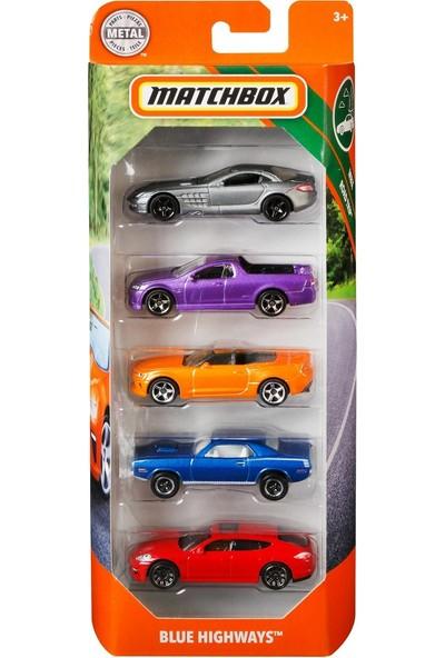 Matchbox Beşli Araba Seti Blue Highways C1817 - GBJ74