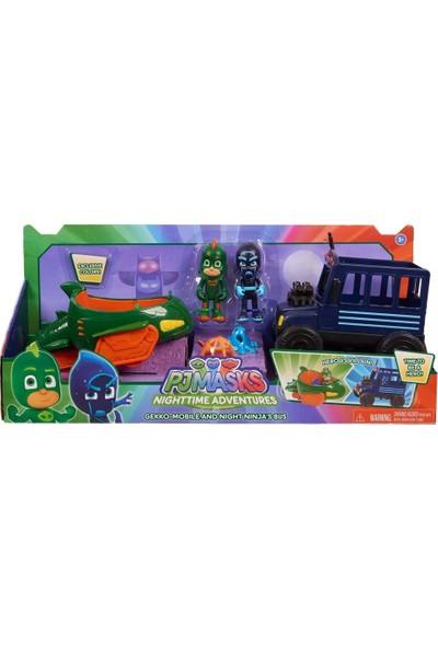 Giochi Preziosi Pijamaskeliler İyiler ve Kötüler Araçlar Gekko Mobile ve Night Ninja's Bus