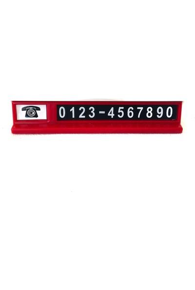 Beste Aç - Kapa Oto Numaratör Kırmızı Beyaz Araç Park Telefonluğu