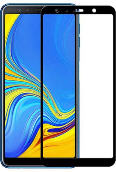 Tekno Grup Samsung Galaxy A9 2018 Tam Kaplayan Temperli Cam Ekran Koruyucu