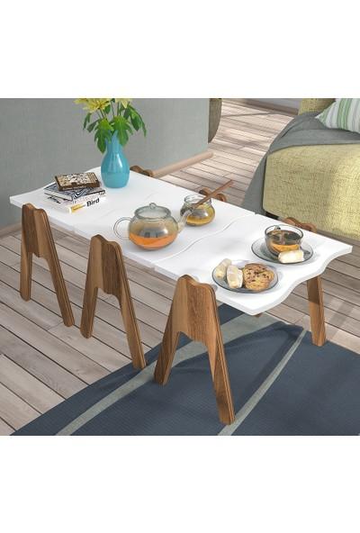 Hepsi Home Zigon Sehpa & Orta Sehpa - Beyaz - Deniz Model