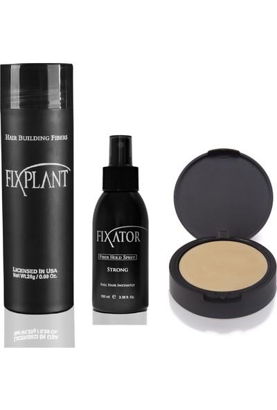 Fixplant Sarı 1 Şişe 28 Gr. Saç Tozu + Fixator Sabitleyici Sprey + Fixdeep Suda Çıkmayan Saç Gürleştirici Pudra