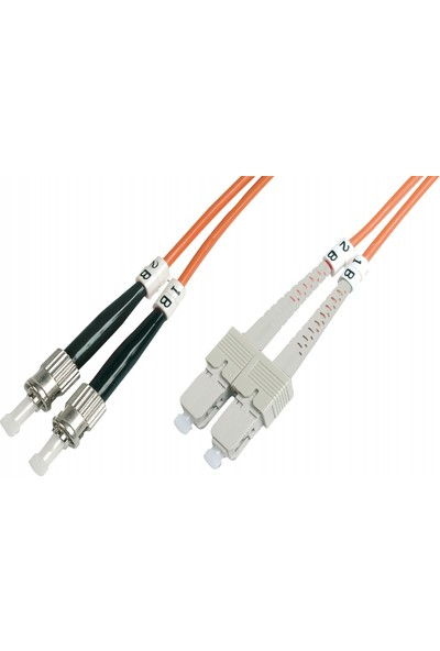 Beek ST-SC Fiber Optik Patch Kablo 5 m Multimode 3.0mm Duplex 50/125 Om2