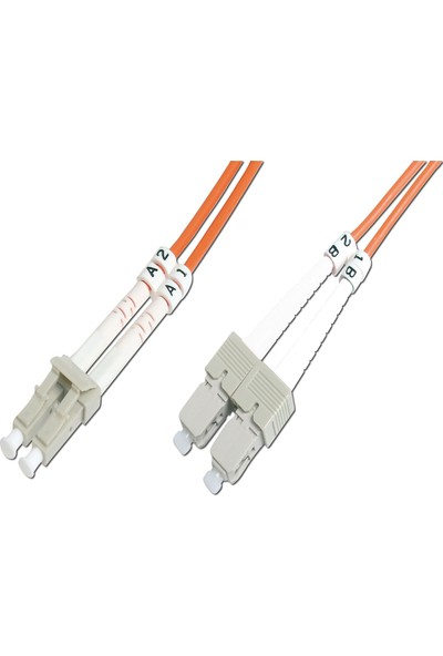 Beek LC-SC Fiber Optik Patch Kablo 20 m Multimode 3.0mm Duplex 50/125 Om 2