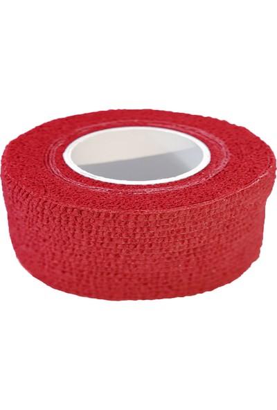 Maxtape Elastik Kohesiv Destek Bandajı 2,5cm x 4,5m Kırmızı 676053