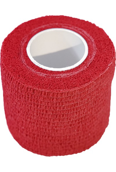 Maxtape Elastik Kohesiv Destek Bandajı 5cm x 4,5m Kırmızı 676002
