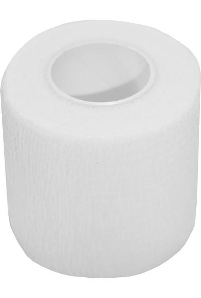 Maxtape Elastik Kohesiv Destek Bandajı 5cm x 4,5m Beyaz 676009