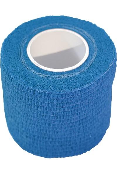 Maxtape Elastik Kohesiv Destek Bandajı 5cm x 4,5m Mavi 676006