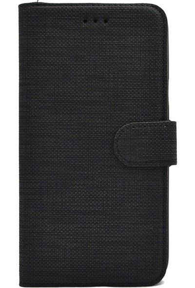 Tbkcase Oppo A5 2020 Kılıf Kumaş Spor Standlı Cüzdan + Nano Ekran Koruyucu Siyah