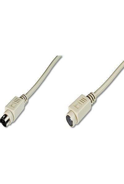 Assmann Ps/2 Uzatma Kablosu Minidın6 Erkek - Minidın6 Dişi 2 m Bej