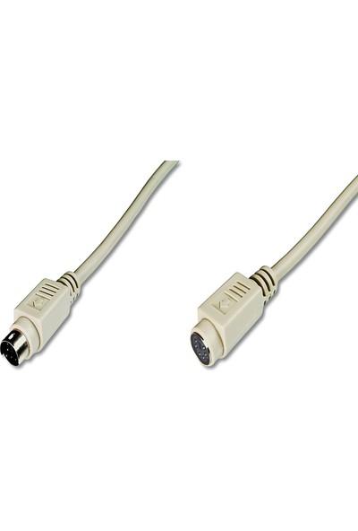 Assmann Ps/2 Uzatma Kablosu Minidın6 Erkek - Minidın6 Dişi 5 m Bej