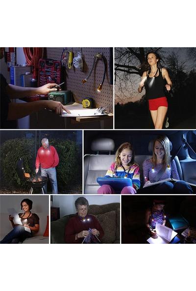 Ledgle Şarjlı Boyun LED Lamba Taşınabilir Kitap Okuma Lambası