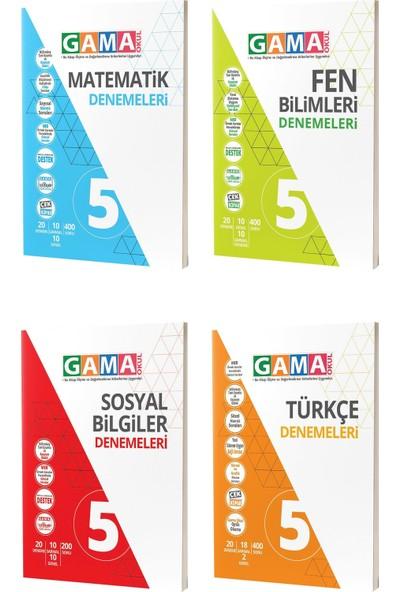 Gama Yayınları 5. Sınıf Matematik Fen Türkçe Sosyal Denemeleri Seti 4 Kitap