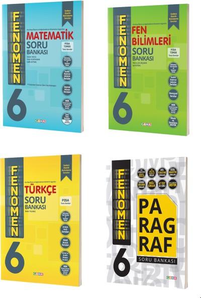 Gama Yayınları 6. Sınıf Fenomen Matematik Fen Türkçe Paragraf Soru Bankası Seti 4 Kitap