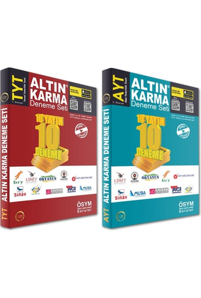Altın Karma Yayınları TYT AYT Deneme Seti 10 + 10 - 2020