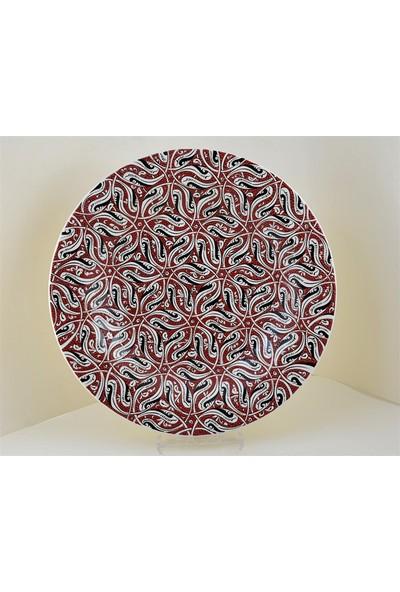 Ceramania Samur Desenli 40 cm Tabak 089B