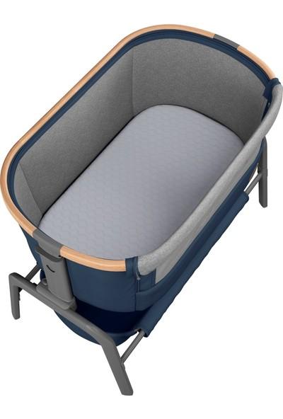 Maxi-Cosi Iora Ahşap Yatak Yanı Beşik Essential Blue