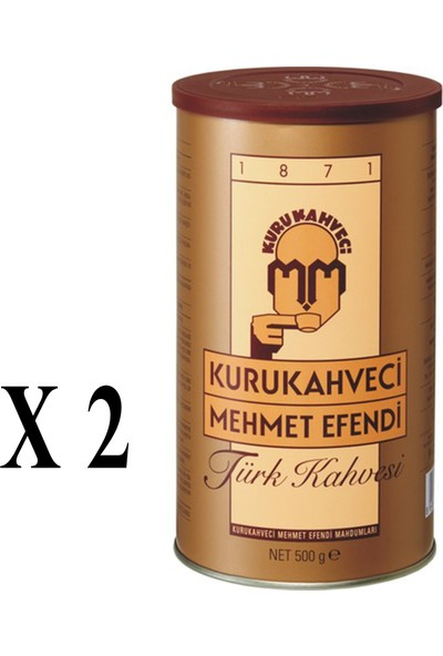 Kurukahveci Mehmet Efendi Türk Kahvesi Teneke 500 gr x 2 Adet