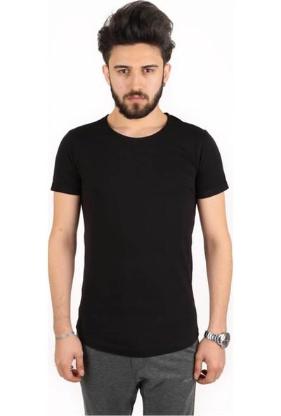 Canerkekspor Siyah Sıfır Yaka Tişört Cs-Syt-01