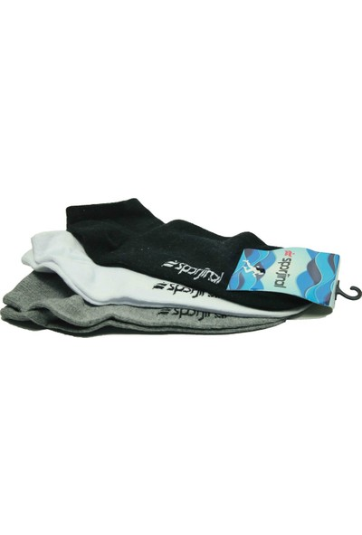 Sporjinal 3Pp Siyah Kısa Çorap Sp0002
