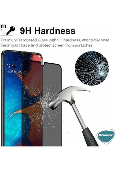 Microsonic Samsung Galaxy M10s Privacy 5D Gizlilik Filtreli Cam Ekran Koruyucu Siyah