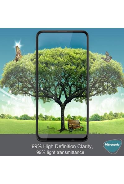 Microsonic Huawei P Smart Pro Tam Kaplayan Temperli Cam Ekran Koruyucu Siyah