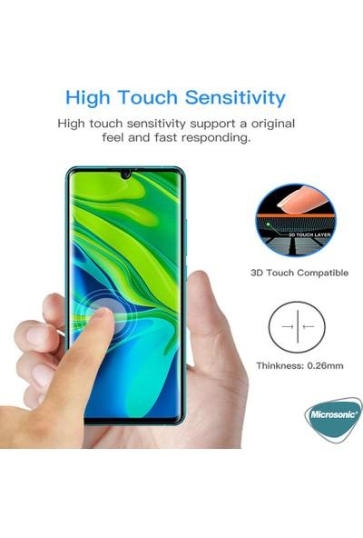 Microsonic Xiaomi Mi Note 10 Pro Tam Kaplayan Temperli Cam Ekran Koruyucu Siyah