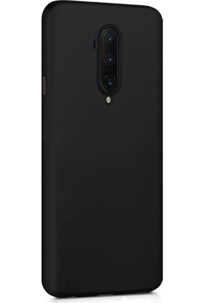 Microsonic Matte Silicone OnePlus 7T Pro Kılıf Siyah