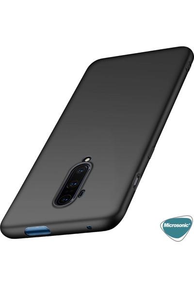 Microsonic Matte Silicone OnePlus 7T Pro Kılıf Mor