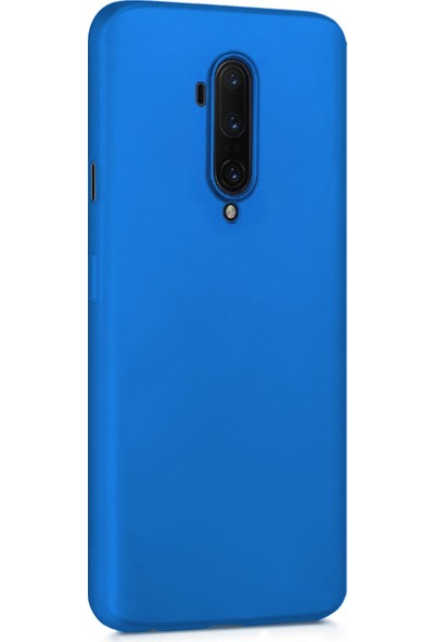 Microsonic Matte Silicone OnePlus 7T Pro Kılıf Mavi