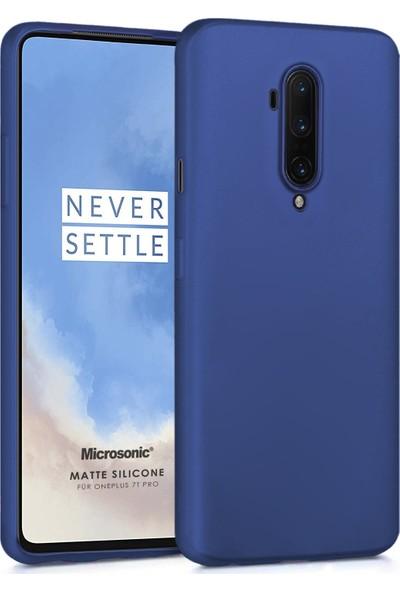 Microsonic Matte Silicone OnePlus 7T Pro Kılıf Lacivert