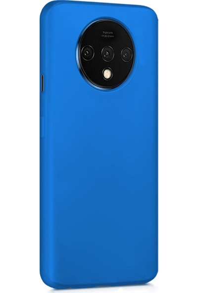 Microsonic Matte Silicone OnePlus 7T Kılıf Mavi