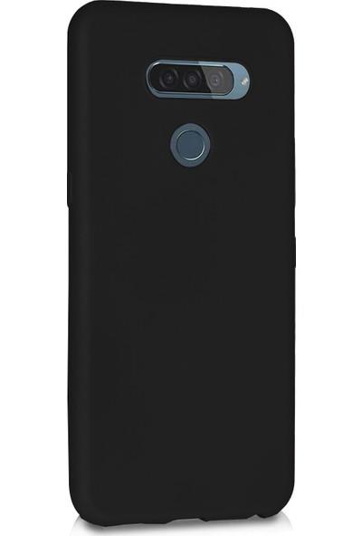 Microsonic Matte Silicone LG Q60 Kılıf Siyah