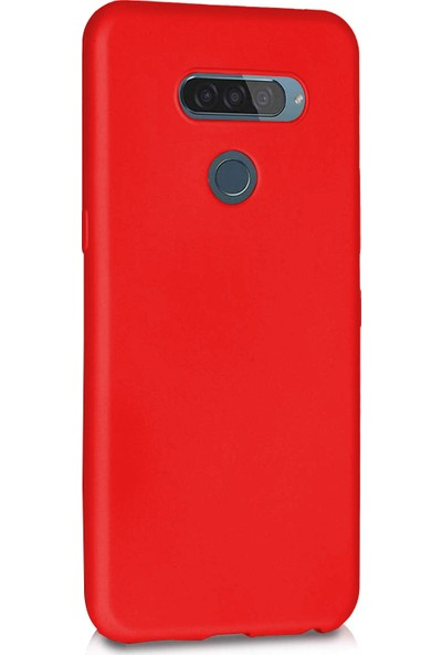 Microsonic Matte Silicone LG K50 Kılıf Kırmızı
